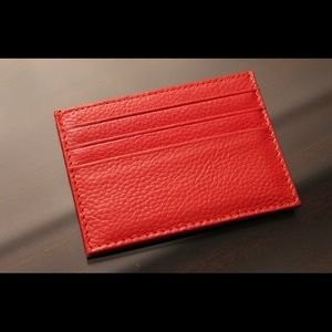 Handbags - Genuine leather Red Card Holder Wallet